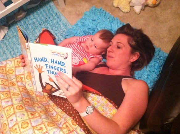 mom and lexi reading