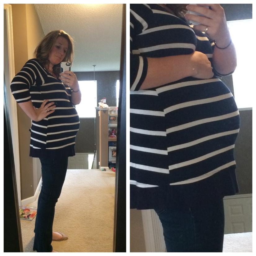 baby 3 bump 30 weeks