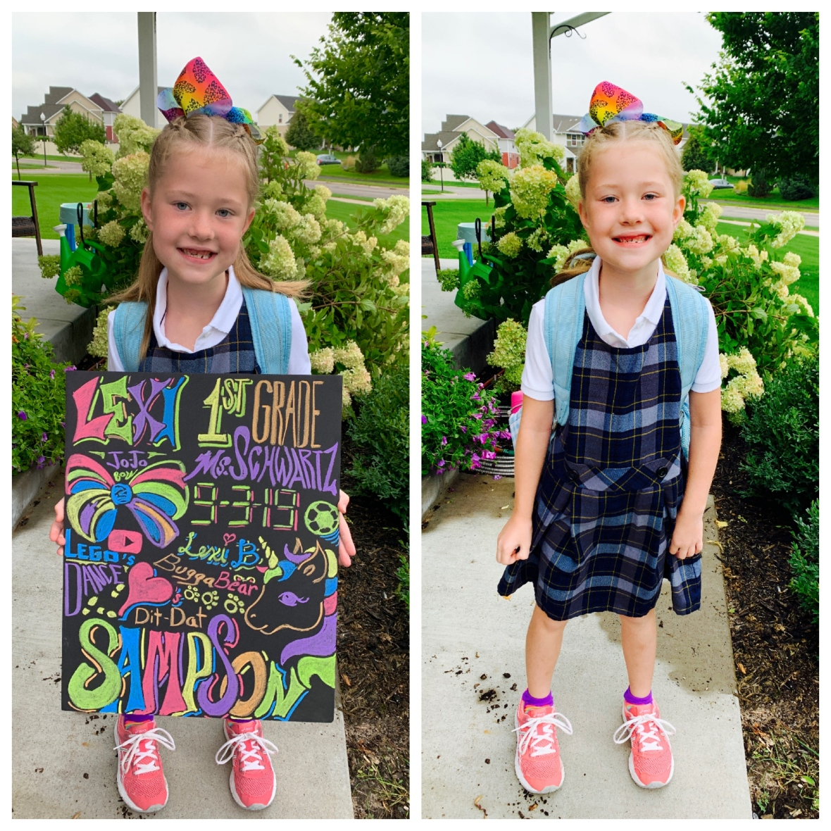 lexi 1st day of 1st grade 2